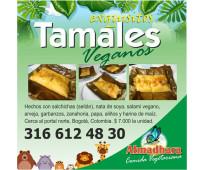 Exquisitos tamales en atmadhara vegan food