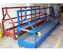 Andamio colgante platina de hierro estructural capacidad de carga de 800 kg