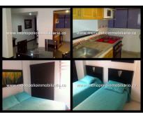 Apartamento amoblado para alquilar en laureles cod. 1208