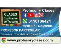 Profesor particular contabilidad finanzas excel estadistica en medellin clases p...