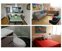 Apartamento amoblado en renta - el poblado ciudad del rio cod: 9786