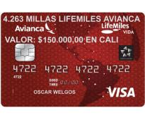 En oferta 4.263 millas avianca lifemiles $150.000 en cali
