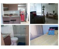 Apartamento amoblado en renta - el poblado loma del indio cod: 11810