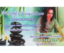 Masajes terapeuticos, con frutas, chocolate o cafe