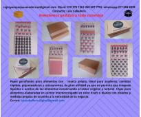 Venta d papel parafinado antigrasas y cajas para alimentos  con marca propia