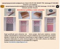 Papel parafinado antigrasa y cajas para alimentos  con logo propio