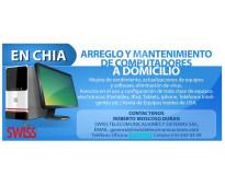Mantenimiento de computadores pc, portatil, mac. domicilio chía