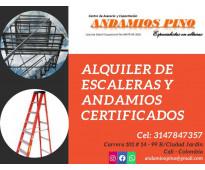 Alquiler de escaleras y andamios certificados