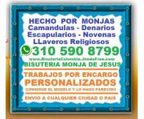 ⭐ BISUTERIA MONJA DE JESUS = Camandulas, Rosarios, Denarios, Escapularios, Japa...