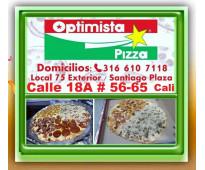 ⭐ Pizzeria Cali, OPTIMISTA PIZZA, Tradicional, Familiar, Especiales. Tambien Dom...