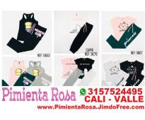 ⭐ pijamas para mujer, short, capri, pantalon, batolas, blusas, tallas desde s, m...