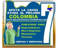 ⭐ apoya la causa, ayuda al projimo colombia, hacemos publicidad a, rosarios, esc...