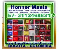 ⭐ hohner mania, accesorios para acordeon, estuches, correas, protectores de fuel...
