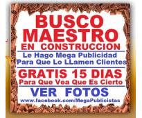 ⭐ BUSCO Maestro De Obra, Oficial Construccion, Albañil, En Bogota, Cali, Medelli...