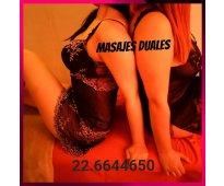 Junio de ricos masajes duales eroticos