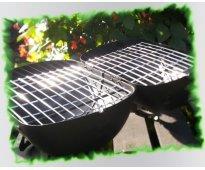 Parrilla y brasero a carbón portátil (minipancho)