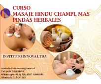 Curso masaje  hindú champi más pindas herbales