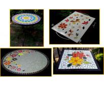 Mesas con mosaico en santiago