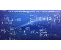 Clases de estadística, econometría, microeconomía, optimización, cálculo, álgebr...